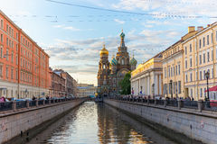 Igreja do salvador no sangue derramado, St Petersburg, Rússia 10 de junho de 2016 imagens de stock royalty free
