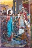 Igreja do salvador no sangue derramado Teste padrão de mosaico no em Imagens de Stock