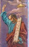 Igreja do salvador no sangue derramado Um dos mosaicos depic Fotografia de Stock