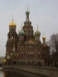 Igreja do salvador no sangue, Rússia Imagem de Stock