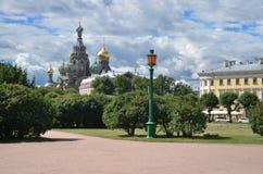 Igreja do salvador no sangue, St Petersburg, Rússia Imagens de Stock