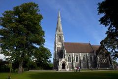 Igreja do St. Alban, Copenhaga Imagens de Stock