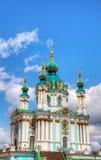Igreja do St. Andrew em Kiev, Ucrânia Fotos de Stock Royalty Free