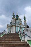 Igreja do St Andrew em Kiev, Ucrânia fotografia de stock royalty free
