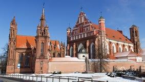 Conjunto de St Annes e de igrejas de Bernardines Imagem de Stock