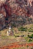 Igreja do St Antvatsatsin do complexo do monastério de Noravank em Vayots foto de stock