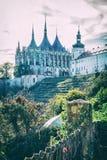 Igreja do St Barbara, Kutna Hora, filtro checo, análogo imagem de stock royalty free