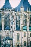 Igreja do St Barbara, Kutna Hora, filtro checo, análogo fotos de stock royalty free