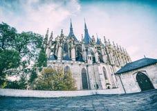 Igreja do St Barbara, Kutna Hora, filtro checo, análogo fotos de stock