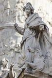 Igreja do St Charles (Karlskirche) em Viena, Áustria imagens de stock royalty free