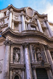 Igreja do St Charles perto das quatro fontes (alle Q de San Carlo Imagens de Stock