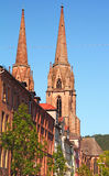 Igreja do St. Elisabeths de Marburg Fotografia de Stock Royalty Free