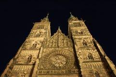 Igreja do St. Lawrenceâs em a noite fotografia de stock