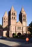 A igreja do St. Leger na cidade de Guebwiller, France Fotografia de Stock Royalty Free