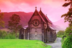 Igreja do ST. Mary e do St.Finnan Fotografia de Stock Royalty Free