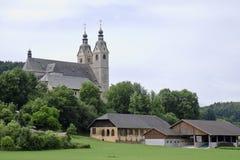 Igreja do St Marys, Maria Saal, Áustria fotografia de stock royalty free