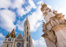 Igreja do St Matthias em Budapest fotografia de stock royalty free