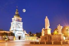 Igreja do St Michael na noite em Kiev Fotografia de Stock Royalty Free