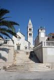 Igreja do St. Peter em Supetar Fotografia de Stock Royalty Free
