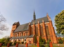 Igreja do St Stanislaus (1521) na cidade de Swiecie, Polônia Foto de Stock Royalty Free