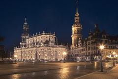 Igreja do St Trinitatis da catedral de Dresden Alemanha Fotografia de Stock