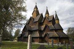 Igreja do Stave, Noruega imagens de stock