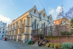 Igreja do templo construída pelos cavaleiros Templar, século XII, Londres, Reino Unido fotos de stock royalty free