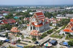 Igreja do templo tailandês na parte central de Tailândia Fotos de Stock Royalty Free
