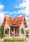 Igreja do templo tailandês no nordeste de Tailândia Foto de Stock Royalty Free