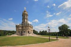 Igreja do Virgin abençoado em Dubrovitsy imagem de stock royalty free