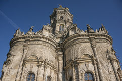 Igreja do Virgin abençoado em Dubrovitsy Fotografia de Stock Royalty Free