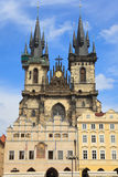 Igreja do Virgin Maria antes de Tyn, Praga Imagens de Stock
