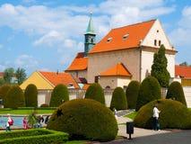 Igreja do Virgin Mary Angelic em Praga imagem de stock royalty free
