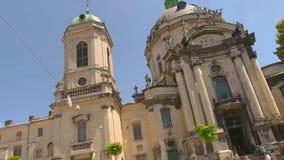 Igreja dominiquense em Lviv video estoque