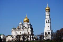 Igreja dos arcanjos no Kremlin de Moscou Local do património mundial do Unesco Fotografia de Stock