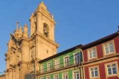 Igreja dos Congregados Church, Avenida Central, Braga, Minho reg Stock Image