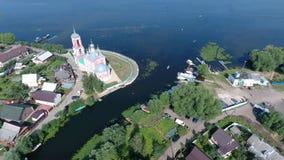 A igreja dos 40 mártir de Sebaste no ci de Pereslavl-Zalessky Imagem de Stock