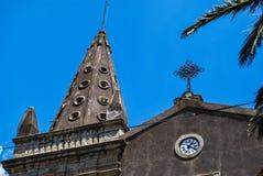 A igreja dos SS Trindade no ` de Forza d agro sicília imagens de stock royalty free