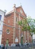 Igreja du no lugar Jeu de Balle da concepção de Immaculee, Bruxelas, Bélgica Fotografia de Stock Royalty Free