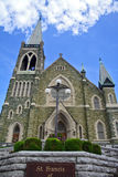 Igreja e céu Fotografia de Stock