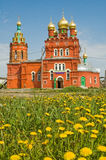 Igreja e camomiles Fotos de Stock Royalty Free