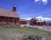 Igreja e construções Foto de Stock Royalty Free