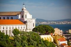Igreja e Convento da Graça, Lissabon, Portugal Arkivfoto