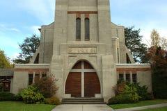 Igreja e cruz Fotos de Stock