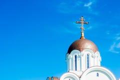 Igreja e cruz Fotos de Stock Royalty Free