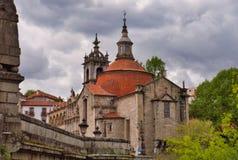 Igreja e monastério de São Gonçalo em Amarante, Portugal fotos de stock