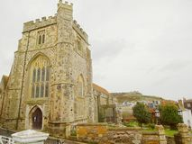 Igreja e monte do leste Cliff Railway na versão 1 de Hastings imagens de stock royalty free