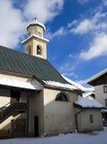Igreja e neve Fotografia de Stock