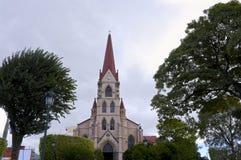 Igreja e parque em San Jose imagens de stock royalty free