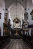 Igreja e parque velhos da cidade de Oliwa Gdansk Foto de Stock Royalty Free